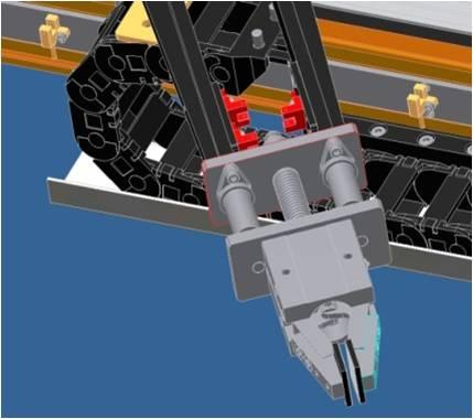 核废料桶表面剂量检测机械手局部